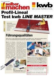 Profil-Lineal Test kwb Line Master