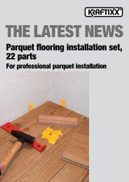 Parquet flooring installation set, 22 parts - kwb