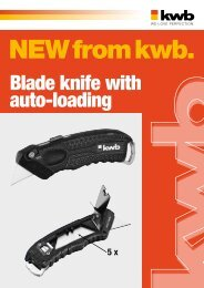 Blade knife with auto-loading - kwb