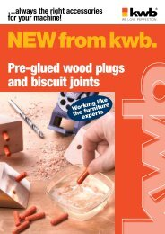 Pre-glued wood plugs and biscuit joints - kwb