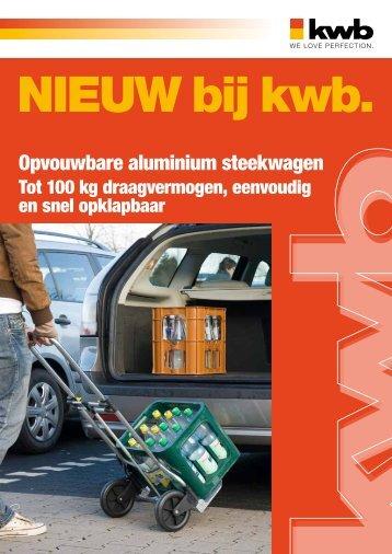 Opvouwbare aluminium steekwagen - kwb