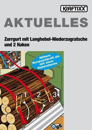 KRAFTIXX Zurrgurt mit Langhebel-Niederzugratsche - kwb