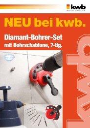 kwb Diamant-Bohrer-Set mit Bohrschablone