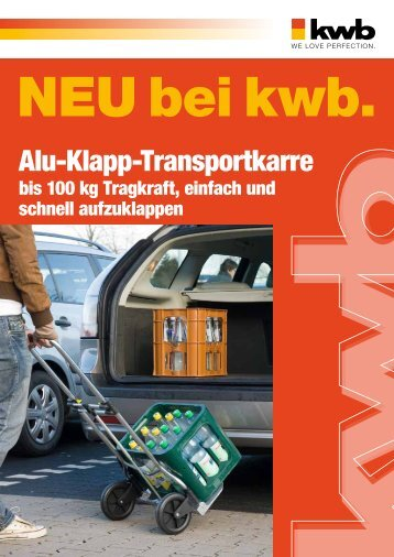 Alu-Klapp-Transportkarre - kwb