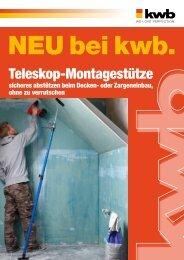 Teleskop-Montagestütze - kwb