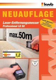 kwb Laser-Entfernungsmesser Professional