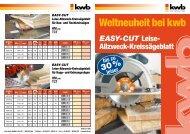 EASY-CUT Leise- Allzweck-Kreissägeblatt - kwb