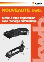 kwb Cutter à lame trapézoïdale