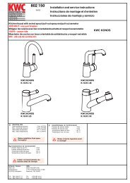 Installation and service instructions Instructions de montage ... - KWC