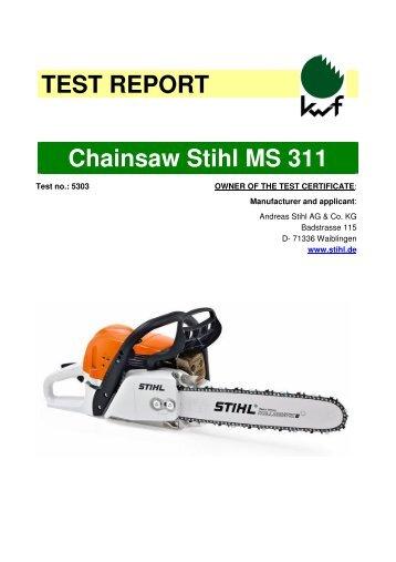 Test report stihl fs 360 c e - Stihl ms 311 ...