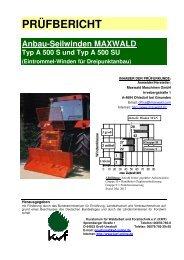 Maxwald A 500 S und A 500 SU