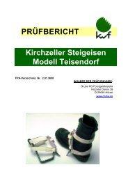 PRÜFBERICHT Kirchzeller Steigeisen Modell Teisendorf