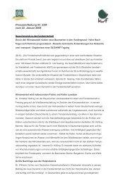 Pressemitteilung Nr. 2/08 vom 22. Januar 2008