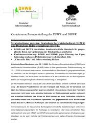 Gemeinsame Pressemitteilung des DFWR und DHWR - Kwf