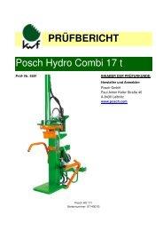 PRÜFBERICHT Posch Hydro Combi 17 t