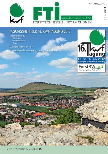 tagungSHeft Zur 16. KWf-tagung 2012