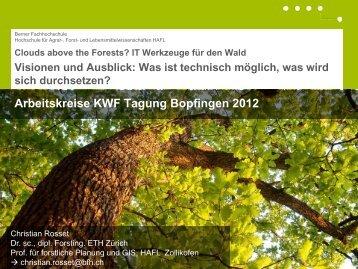 Arbeitskreise KWF Tagung Bopfingen 2012