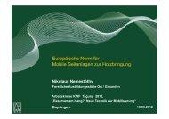 Europäische Norm für Mobile Seilanlagen zur Holzbringung - Kwf