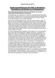 Stand Februar 2010 Handlungsempfehlungen des KWF zu ...