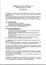 GEFFA Tätigkeitsbericht - Kwf