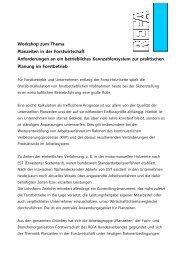 Workshop zum Thema Planzeiten in der Forstwirtschaft ... - Kwf