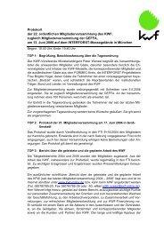 Niederschrift der Mitgliederversammlung - Kwf