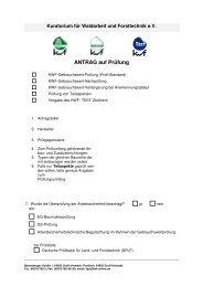 ANTRAG auf Prüfung - Kwf