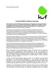 Pressemitteilung 04/2003 - Kwf