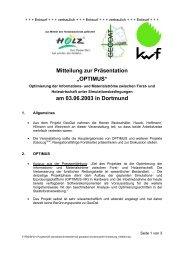"""Mitteilung zur Präsentation """"OPTIMUS"""" am 03.06.2003 in ... - Kwf"""
