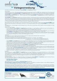 Verlegeanweisung antigua HYDROTEC - Kwg