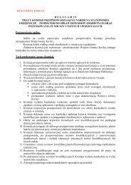 regulamin pracy komisji przeprowadzającej nabór na stanowisko ...