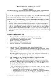 Information für den Anwender ESBERITOX® - Tabletten Alkoholisch ...