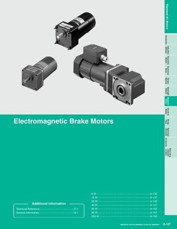 Electromagnetic Brake Motors