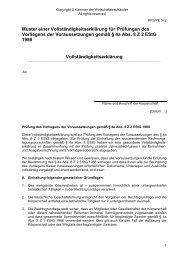 Prüfungen des Vorliegens der Voraussetzungen gemäß § 4a Abs. 8 ...