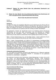 Anhang 2: Muster für einen Bericht über die prüferische Durchsicht ...