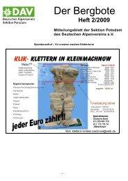Der Bergbote - Sektion Potsdam im Deutschen Alpenverein e.V.