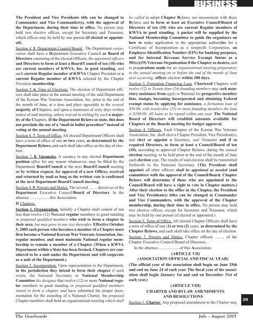 National convention, october 2-5, 2005, in bossier - Korean War ...