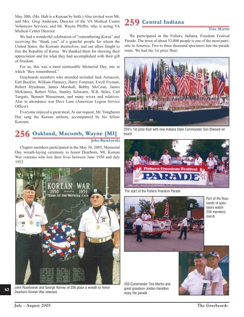 National convention, october 2-5, 2005, in bossier - Korean War ...