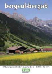 Umzug? Neues Konto? - Deutscher Alpenverein, Sektion ...