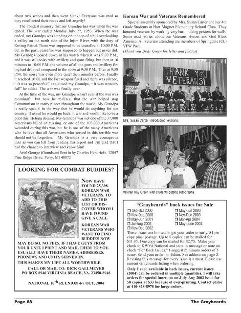 The Graybeards - KWVA - Korean War Veterans Association
