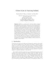A Sober Look at Clustering Stability - Max Planck Institute for ...