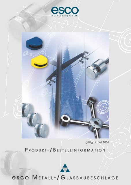 Farbkarte Klemmbefestigung - esco Metallbausysteme Gmbh