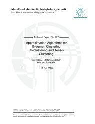 Approximation Algorithms for Bregman Clustering Co-clustering and ...