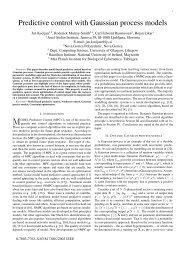 Predictive control with Gaussian process models - Max Planck ...