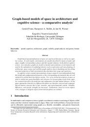 Graph-based models of space in architecture and cognitive science ...
