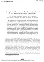 Perception of Visual and Motion Cues During Control of Self-Motion ...