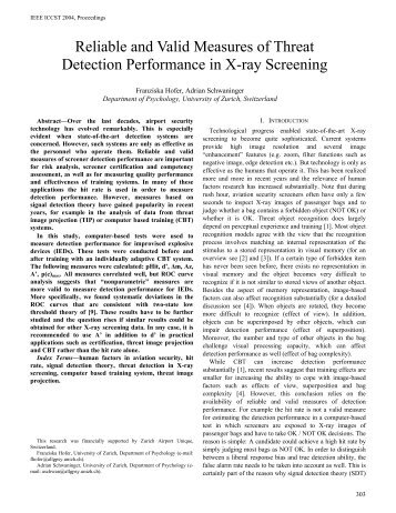 Reliable and Valid Measures of Threat Detection Performance in X ...