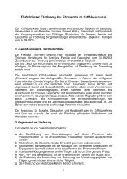Richtlinie Foerderung Ehrenamt - im Kyffhäuserkreis