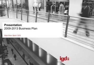 Presentation 2009-2013 Business Plan - IGD SiiQ