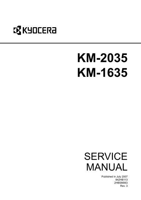 KM-2035 KM-1635 - kyocera